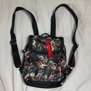 Rosetti Black Birds and Flowers Mini Backpack